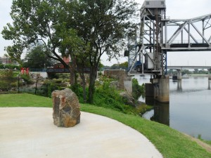 Little Rock Landmark - La Petite Roche - Where Little Rock Got Its Name